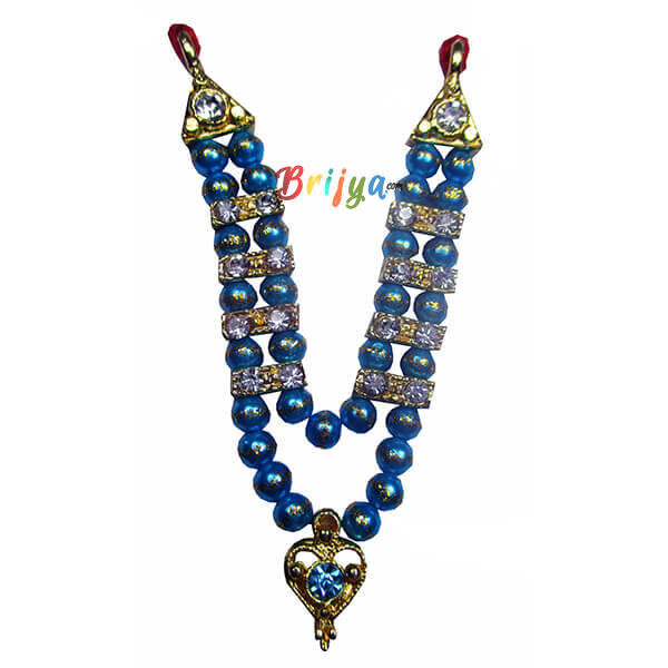 SkyBlue Beads Stone Laddu Gopal Mala