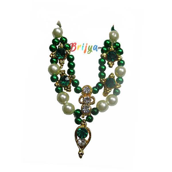 Green White Pearl Gopal Mala