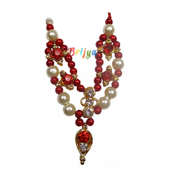 Red White Pearl Gopal Mala