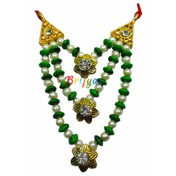 Green-White-Pearl-Stone-Beads-Laddu-Gopal-Mala