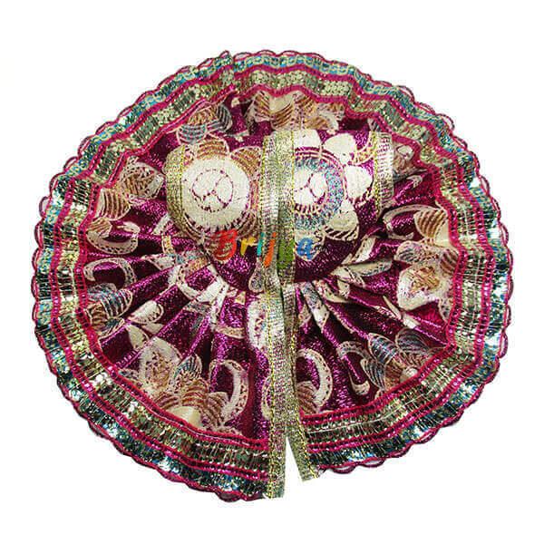 Magenta-Printed-Shining-Simar-Gota-Laddo-Gopal-Dress-Dress