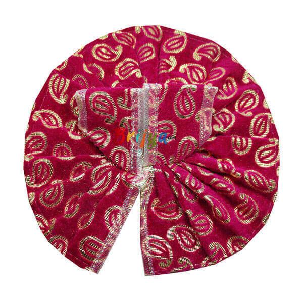 Pink-Printed-Velvet-Lace-Bal-Gopal-Poshak-Dress