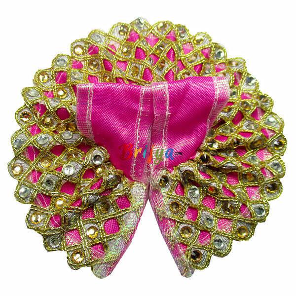 Pink-Simar-Rich-kundan-kalabattu-Bal-Krishna-Dress-Poshak