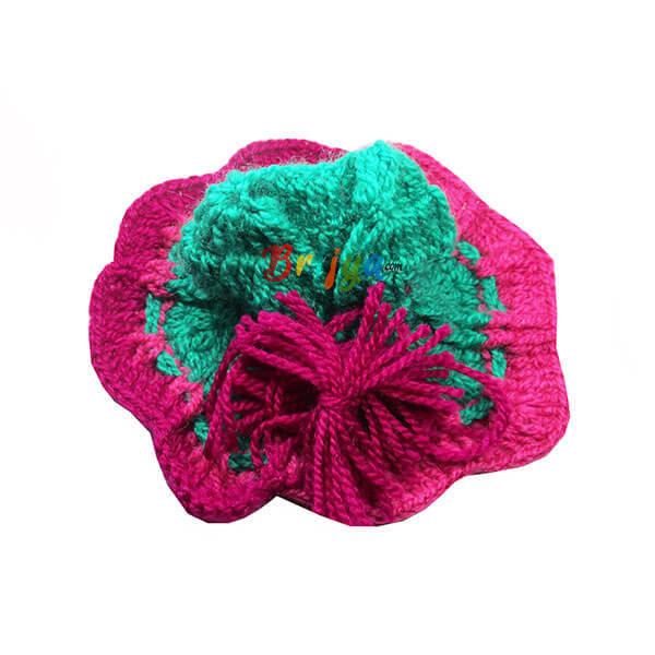 Green-Pink-Woolen-Laddu-Gopal-Poshak-Dress