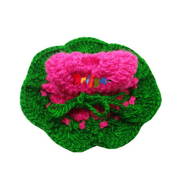 Pink-Green-Laddu-Gopal-Woolen-Dress-Poshak